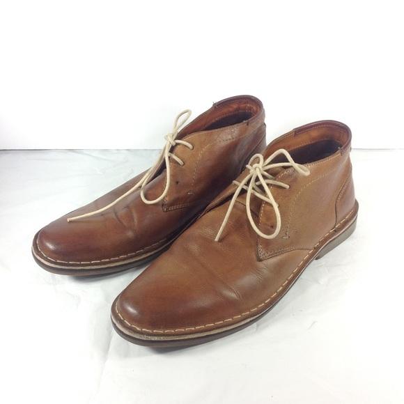 68940cd83e3 Steve Madden Ivon Chukka Boots Brown Leather